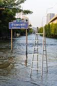 Severe flood in Bangkok, Thailand — Stock Photo