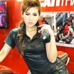 Постер, плакат: Female presenter of the Ducati