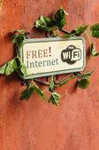 Бесплатный Интернет знак — Стоковое фото