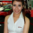 Постер, плакат: Female presenter of Toyota