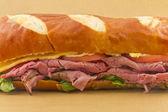 Pretzel Roll Sandwich — Stock Photo