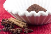 Coffee Grounds Filter — Stock Photo
