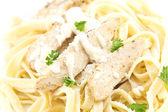 Chicken Fettuccini Alfredo — Stock Photo