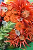 Escultura de frutas e legumes — Fotografia Stock