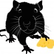 Stock Vector: Mice with cheese