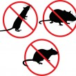 No rats. forbidden sign — Stock Vector