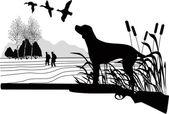 Hunting dog — Stock Vector