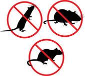 No rats. forbidden sign — Stock Vector