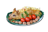 Stuffed pig dish — Stock Photo