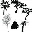 Tree collection — Imagen vectorial