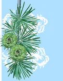 Spruce twig — Stockvektor