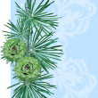 Vector de stock : Spruce twig