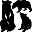Bears animal silhouettes — Stock Vector #14983625