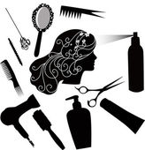 Hairdressing accessories — Stock Vector
