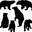 Stock Vector: Bears