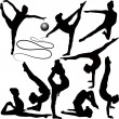 Dancers and acrobats — Vector de stock #20692397