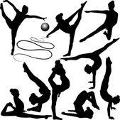 Dansers en acrobaten — Stockvector
