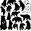 Bear set - Stock Vector