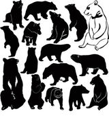 Bear set — Stock Vector