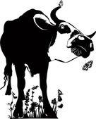 Vaca animales — Vector de stock