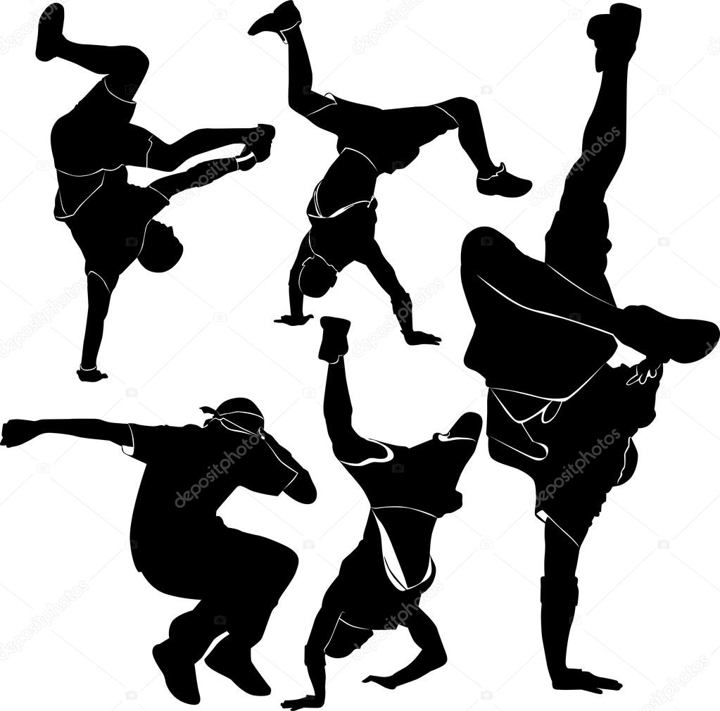 Breakdance silhouette — Stock Vector © weter777 #27418257