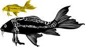 Pez carpa — Vector de stock