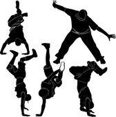 Breakdance silhouette — Stock Vector