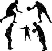 Men playing basketball — Stock Vector