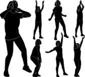 Dívka gymnastka atlet — Stock vektor