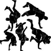 Collection breakdance — Stock Vector