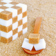 A spoonful of sugar cubes — Stock Photo #35903153