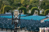 Professional microphone ready for concert — Stock Photo