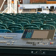 Big mixer console in a concert stage — Stock Photo