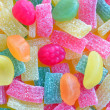 Colorful of jelly and sugar — Stock Photo
