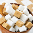 Brown and white sugar cubes — Stock Photo #36212507