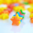 Multicolored stars candy background — Stock Photo