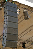 Speakers at outdoors concert — Stock Photo