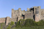 Bamburgh kasteel landschap — Stockfoto