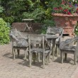 English garden table — Stock Photo