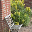 English garden chair — Stock Photo