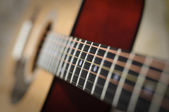 Classic guitar with shallow DoF — Stock Photo