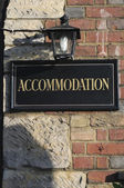 Accomodation sign — Stock Photo