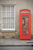 English phone booth — Stock Photo