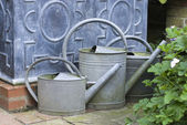 English watering cans — Stock Photo