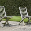 Stock Photo: Two garden chairs