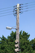 Old electric pole — Stock Photo
