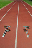 Starting blocks — Foto Stock