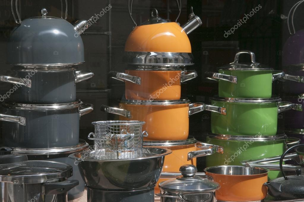 Hausehold appliances shop display window in Wadowice, Poland. — Stock Photo #14597833