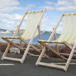 Deckchairs in Paignton Devon — Stock Photo