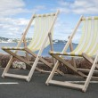 Deckchairs in Paignton Devon — Stock Photo #24286471